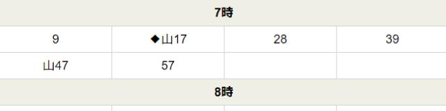 笹部駅時刻表