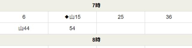 光風台駅時刻表