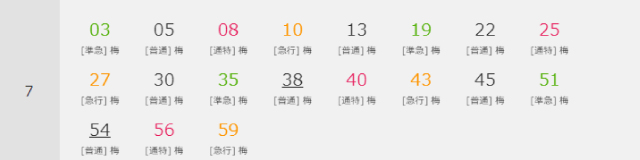豊中駅時刻表