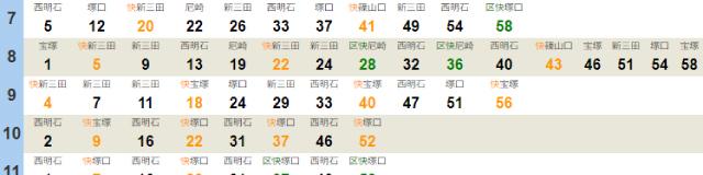 加島駅時刻表