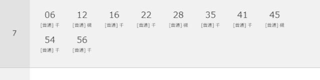柴島駅時刻表