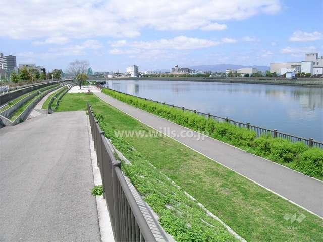 神崎川(なにわ自転車道)1