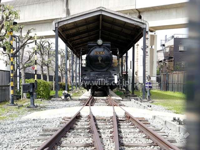 蒸気機関車D51があるSL公園1