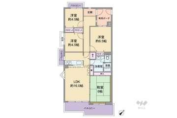 ルミナス箕面の森一番街1号棟2480万円:間取り図