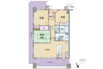 リバーガーデンKashima2580万円:間取り図