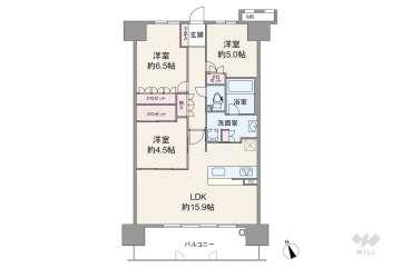 ファインシティ千里津雲台5280万円:間取り図