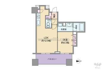 シティタワー名古屋久屋大通公園3980万円:間取り図