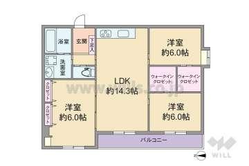 パレス相川1658万円:間取り図