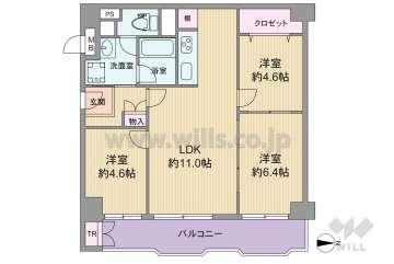 三国ハイツ1980万円:間取り図