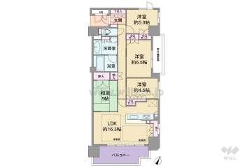 ジークレフ千里中央パークグレイス4350万円:間取り図