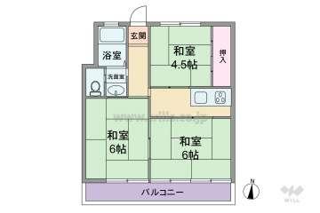 楠ヶ丘マンション650万円:間取り図