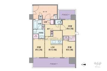 エステムプラザ江坂公園II RISE4650万円:間取り図