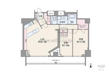 プラウドタワー覚王山10900万円:間取り図